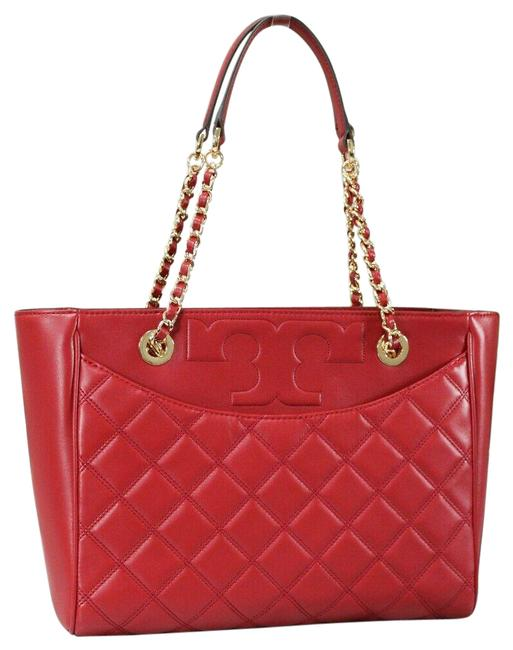 Item - Bag Savannah Small Flat Handbag 64216 Red Smooth Quilted Leather Tote