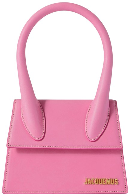 Item - New Le Grand Chiquito Moyen Large Cross Body Top Handle Pink Leather Tote