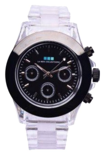 La Mer Collections New La Mer Collections Carpe Diem Watch Clear lucite links black dial