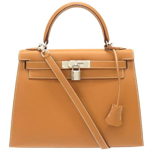 Item - Kelly 28 Vaux Outer Stitch Natural / Natural Chamonix Leather Satchel