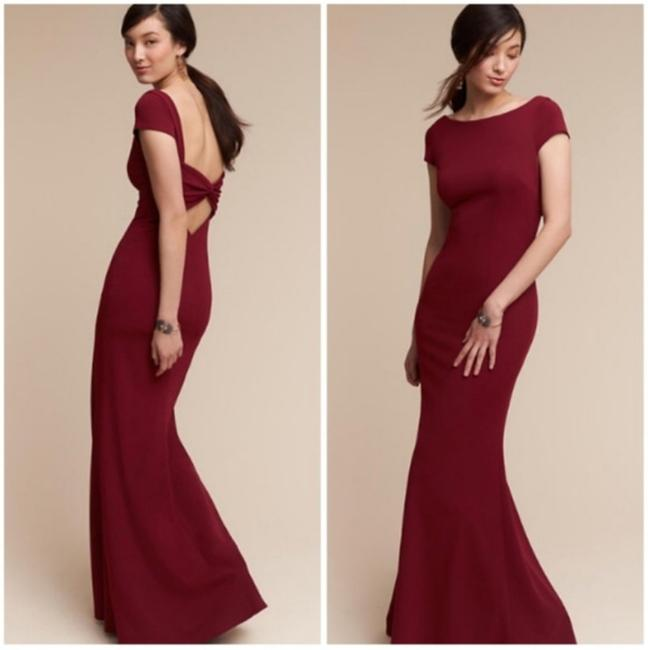 Item - Red Bordeaux Poly-spandex Madison Modern Bridesmaid/Mob Dress Size 4 (S)