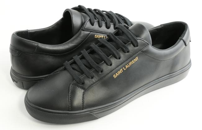 Item - Black Andy Leather Low-top Sneakers Shoes