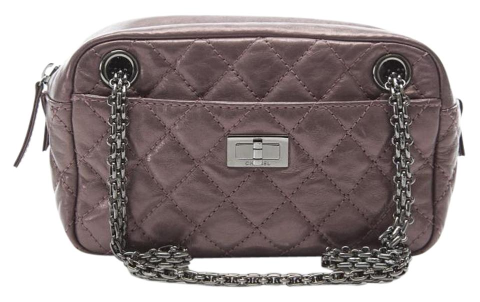 dffb0e0cbab4 Chanel 2.55 Reissue Camera Small Reissue Metallic Rose Fonce Calfskin  Leather Shoulder Bag