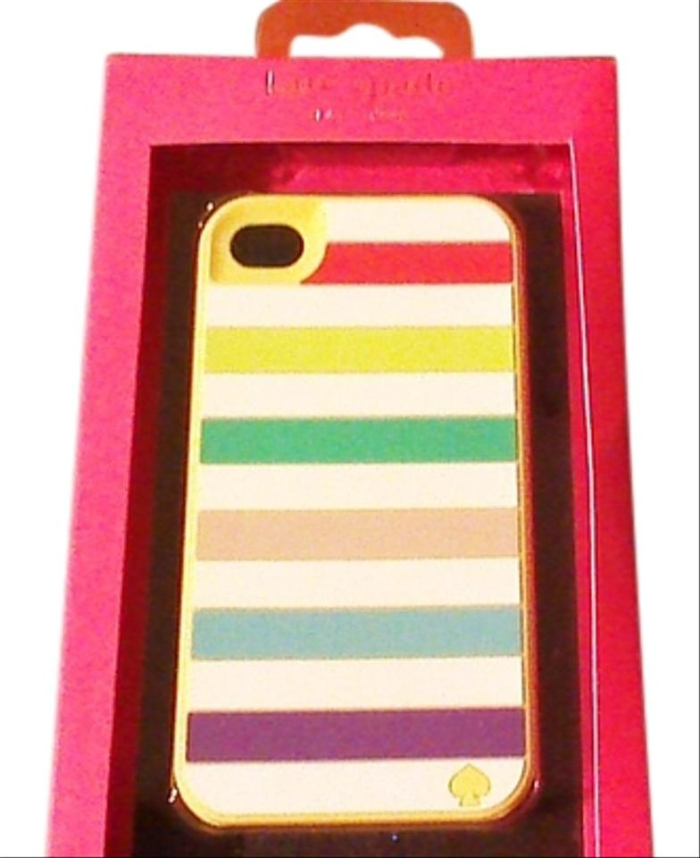 first rate 8f278 1b7cc Kate Spade Multicolor Iphone 4 Case Stripes Tech Accessory