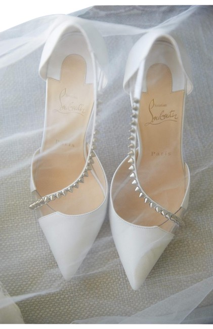 Item - White Leather Pumps Formal Shoes Size EU 39 (Approx. US 9) Regular (M, B)