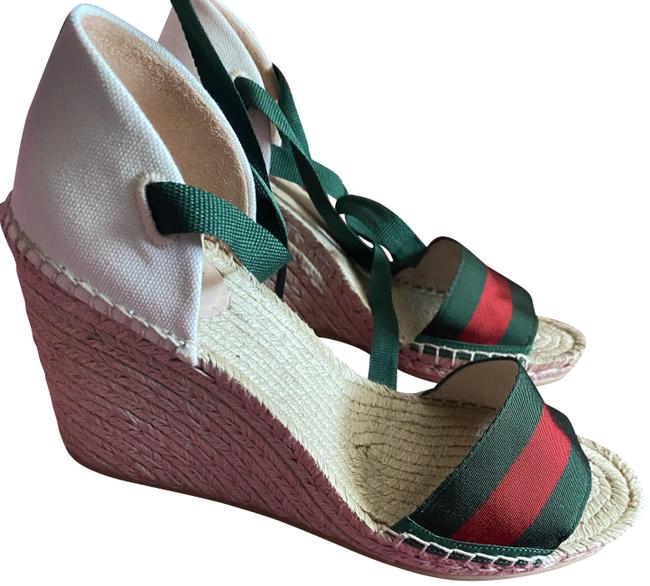 Item - Red/Green/White Lilibeth Wedges Size EU 40 (Approx. US 10) Regular (M, B)