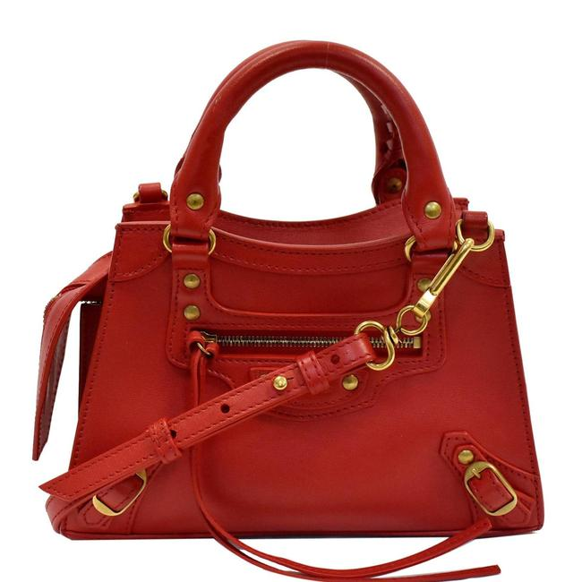 Item - Classic City Small Top Handle Red Leather Shoulder Bag