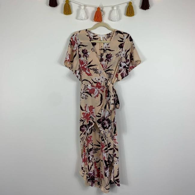 Leith Cream Hi Lo Flutter Sleeve Floral M Tunic Size 10 (M) Leith Cream Hi Lo Flutter Sleeve Floral M Tunic Size 10 (M) Image 2