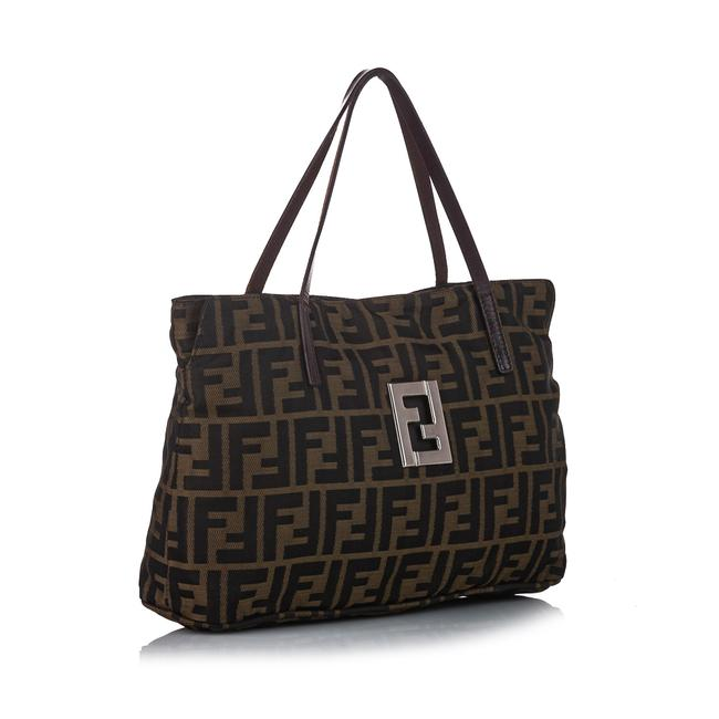 Item - Bag Zucca Canvas Brown Leather Tote