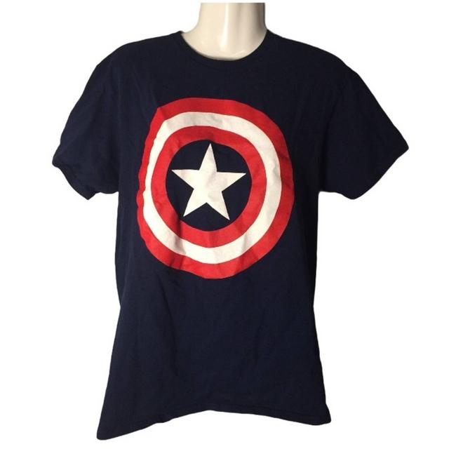 Item - Red Captain America T-shirt Tee Shirt Size 10 (M)