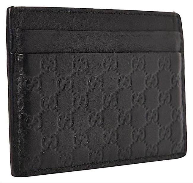 Item - New Card Case Wallet Black Leather Clutch