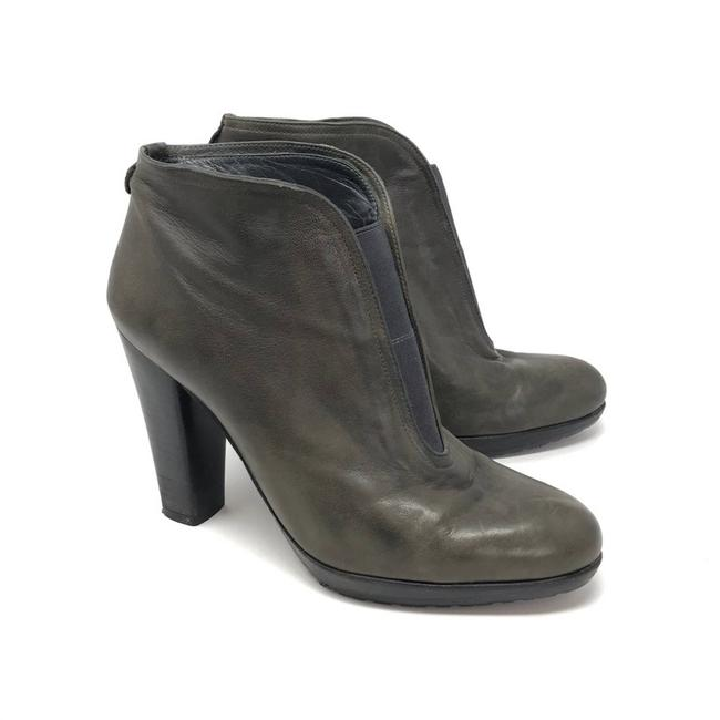 Item - Gray Stretch Vamp Ankle Boots/Booties Size US 8.5 Regular (M, B)