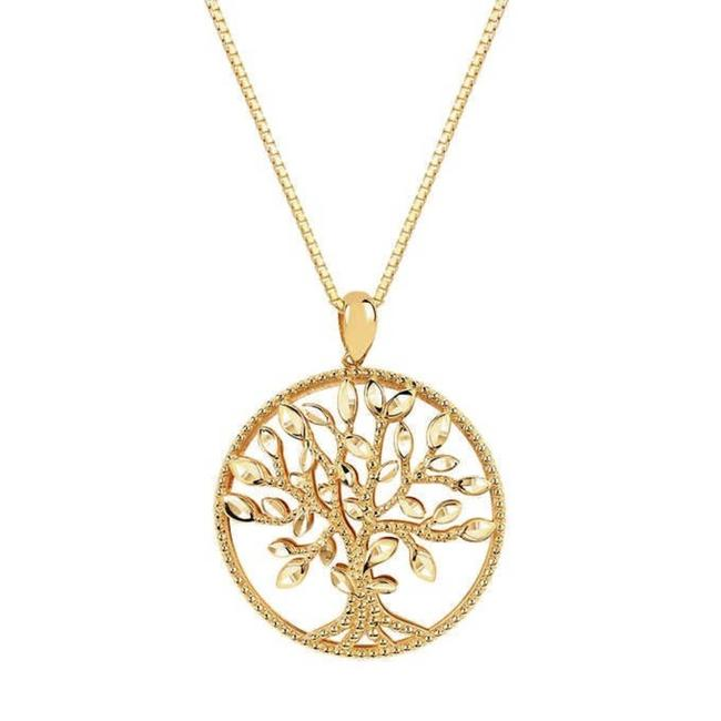 Item - Cream Tree Of Life 14kt Gold Necklace