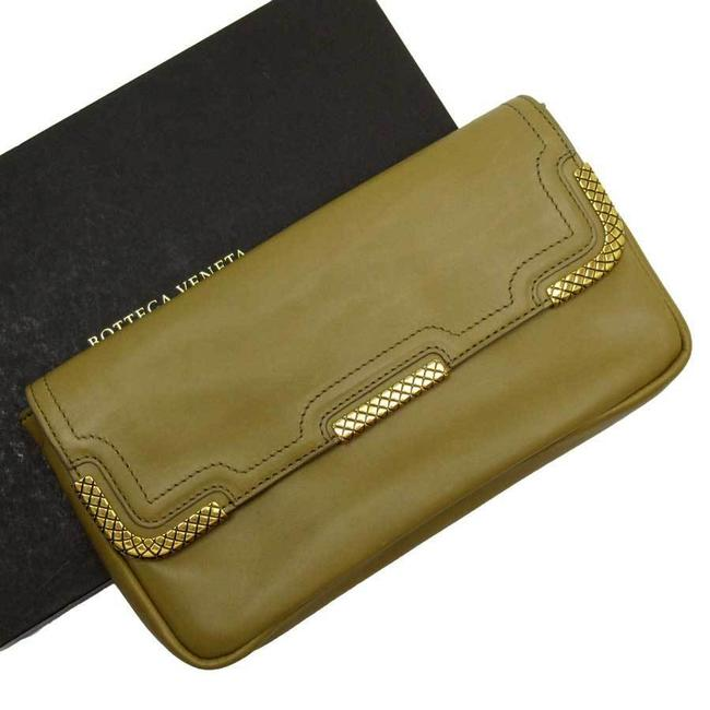 Item - Brown / Gold Purse Intrecciato Leather Wallet