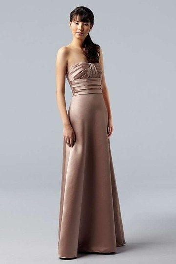 Wtoo Plum Duchess Satin 730 Formal Bridesmaid/Mob Dress Size 0 (XS)