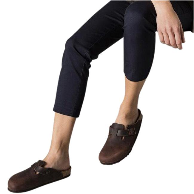 Item - Brown Boston Oiled Leather Soft Footbed Mules/Slides Size EU 36 (Approx. US 6) Regular (M, B)