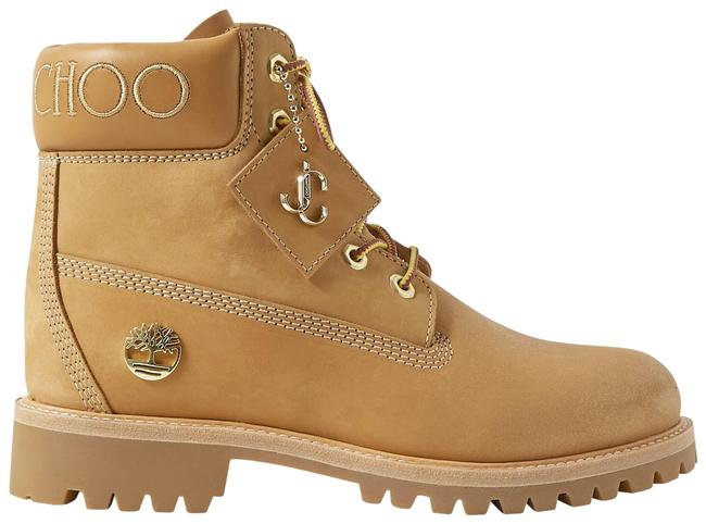 Item - Tan + Timberland Crystal-embellished Nubuck Ankle Boots/Booties Size US 8.5 Regular (M, B)