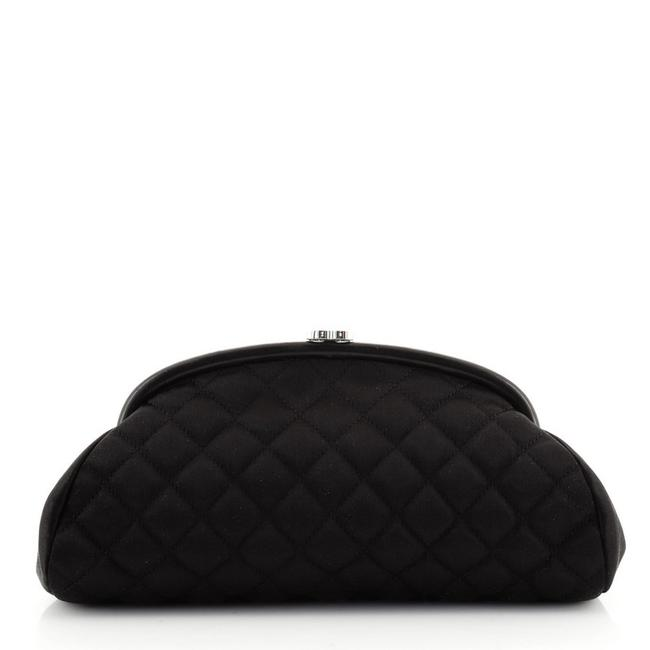 Item - Timeless Quilted Black Satin Clutch
