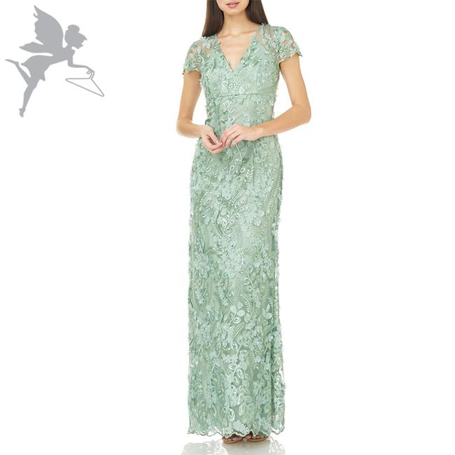 Item - Green Infusion Petals Gown Long Formal Dress Size 6 (S)