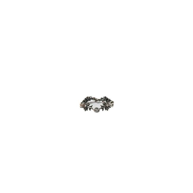 Item - Silver Tiny E Ch Plus 4 Link Ring
