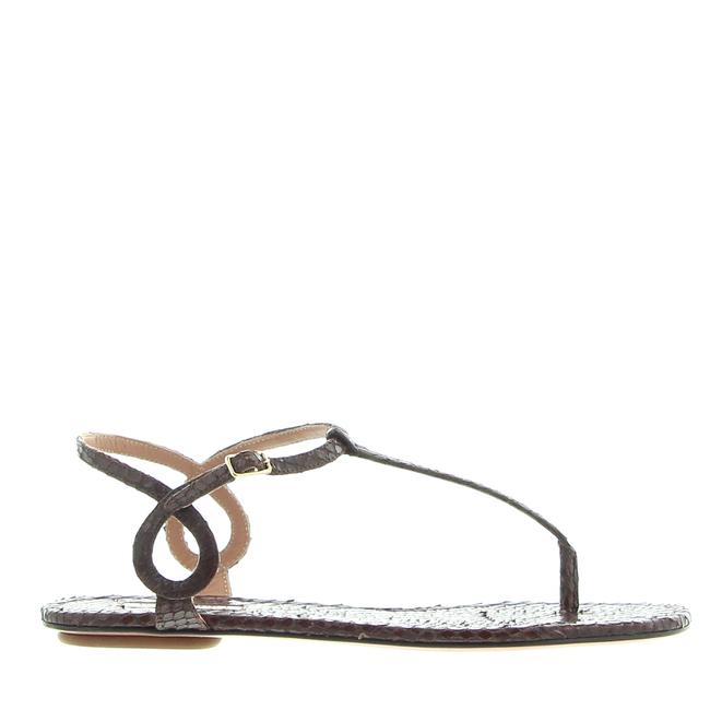 Item - Brown Almost Bare Flat Chocolate Sandals Size EU 38 (Approx. US 8) Regular (M, B)