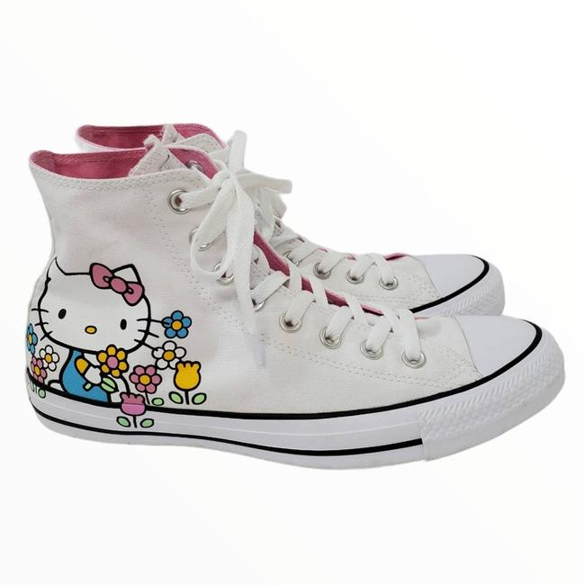 Item - White Hello Kitty Chuck Taylor High Top Sneakers Size US 10 Regular (M, B)