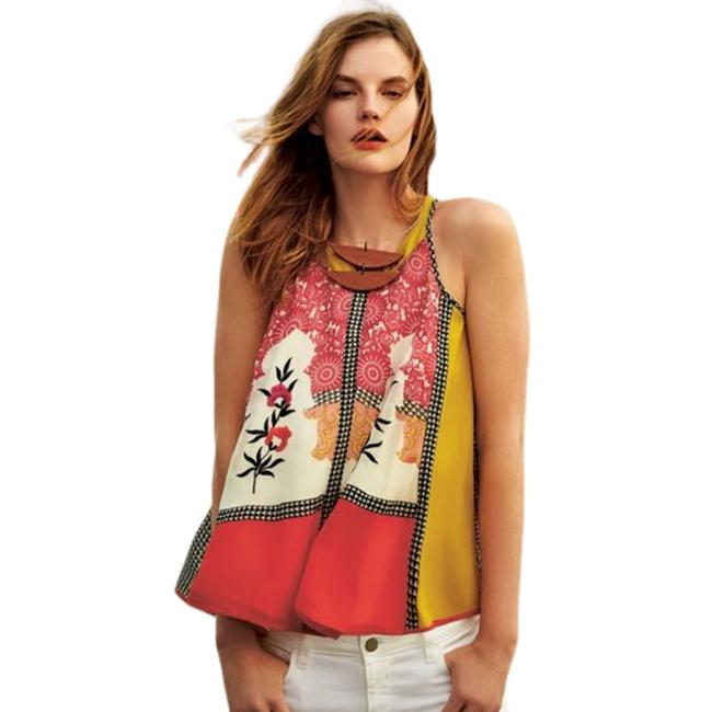 Item - Multicolor Womens Small Jardin Swing Embroidered 989 Tank Top/Cami Size 4 (S)