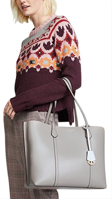 Item - Perry Gray Leather Tote