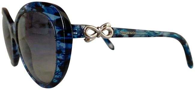 Item - Black and Blue /Blue Abstract Cat Eye Strong Turquoise Gradient Bow Sunglasses