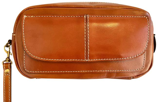 Item - 50% Off. Unisex with Strap Retail Tan Leather Clutch