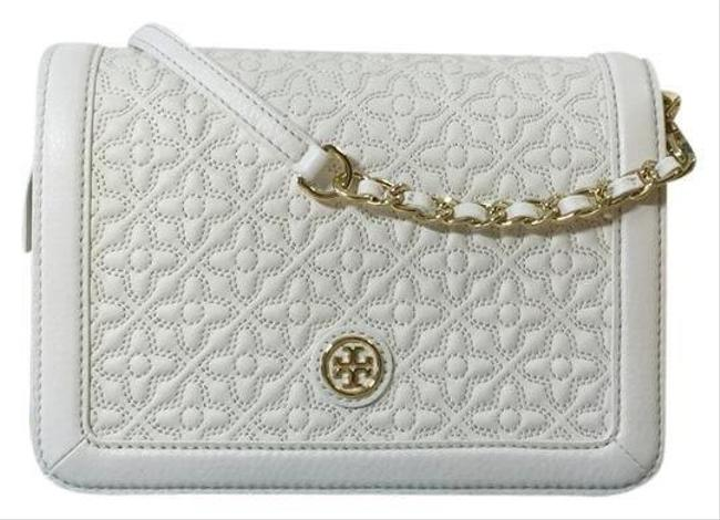 Item - Bryant Quilted Combo White ( New Ivory) Leather Cross Body Bag