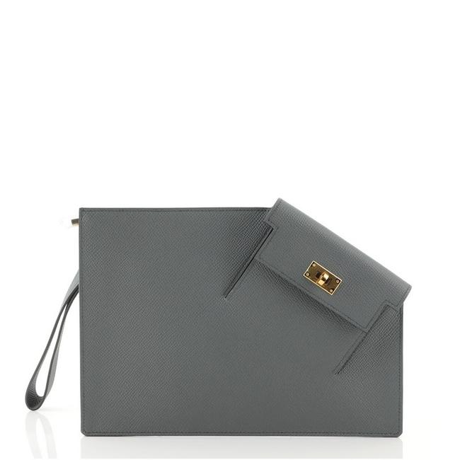 Item - Kelly Pocket To Go Pouch Epsom Green Leather Clutch