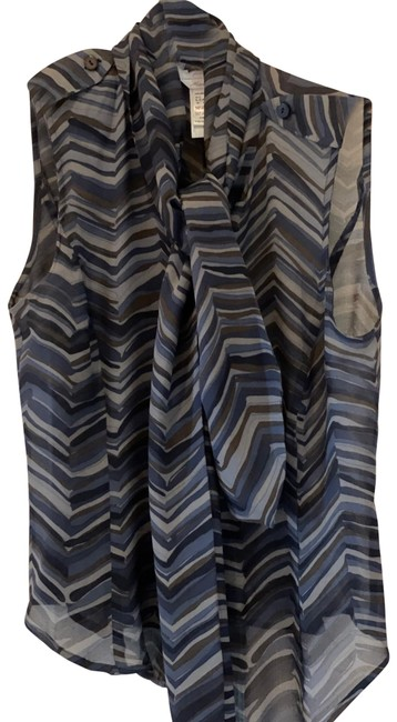 Item - Blues and Grays Blouse Size 2 (XS)