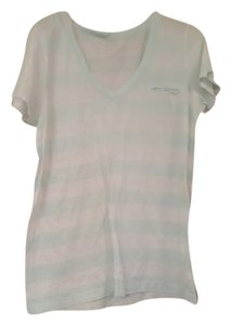 Kersh Cotton Sleeve Summer Breathable Comfortable Rarely Worn Cute Pocket T Shirt White and Light Green