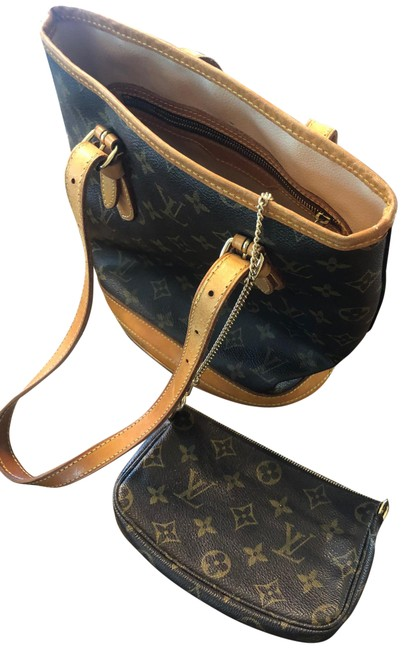 Item - Bucket Bag Petit with Pouch Brown Monogram Canvas Tote