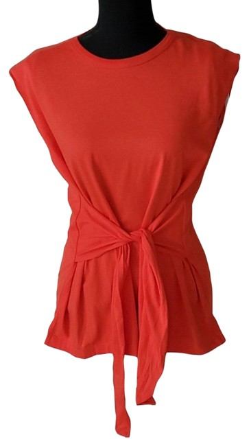 Item - Red Front Tie Sleeveless Blouse Size 0 (XS)