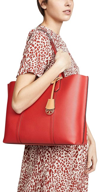 Item - Tote Perry Triple-compartment Brilliant Red Leather Cross Body Bag
