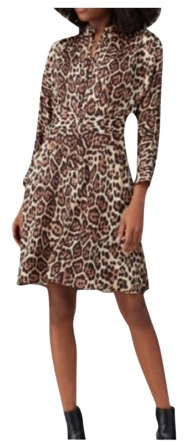 Item - Brown Adalicia Mid-length Cocktail Dress Size 12 (L)