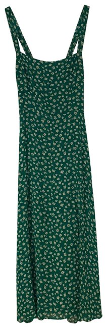 Item - Green Floral Mid-length Casual Maxi Dress Size 2 (XS)