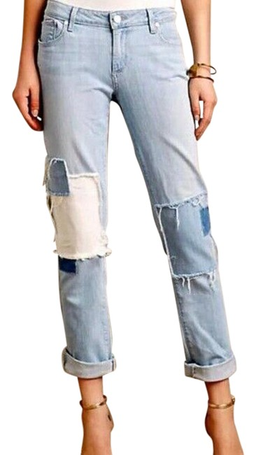 Item - Blue Light Wash Jimmy Jimmy Patch Relaxed Fit Jeans Size 27 (4, S)