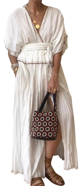Item - White Limited Edition Studio Long Casual Maxi Dress Size 6 (S)