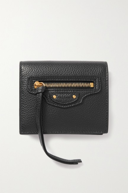 Item - Black Neo Classic Textured-leather Wallet