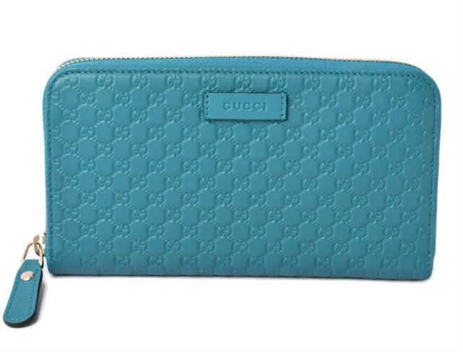 Item - Turquoise Long Micro Shima Blue 449391 Outlet Wallet