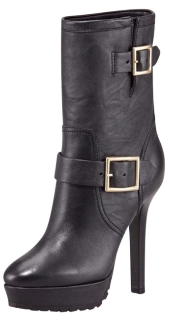 Item - Black Dylan Strappy Buckle Moto Ankle Biker Boots/Booties Size EU 39.5 (Approx. US 9.5) Regular (M, B)