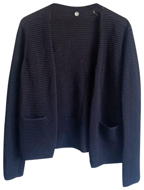 Item - Open Knitted Cardigan Black Sweater