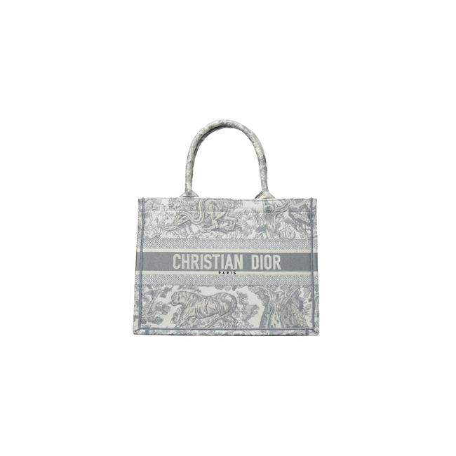 Item - Small Book De Jouy Embroidery Gray Tote