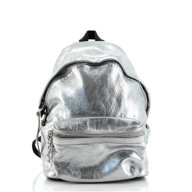 Item - City Mini Silver Leather Backpack
