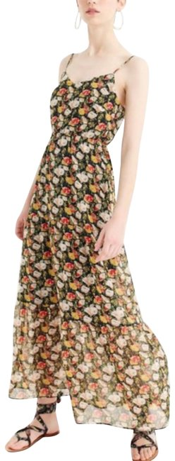 Item - Blue Red White Floral Long Casual Maxi Dress Size 2 (XS)