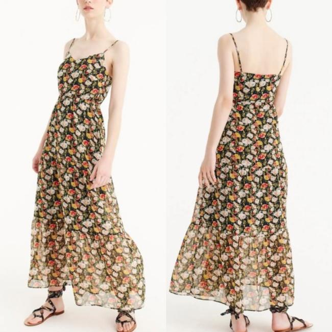 J.Crew Blue Red White Floral Long Casual Maxi Dress Size 2 (XS) J.Crew Blue Red White Floral Long Casual Maxi Dress Size 2 (XS) Image 2