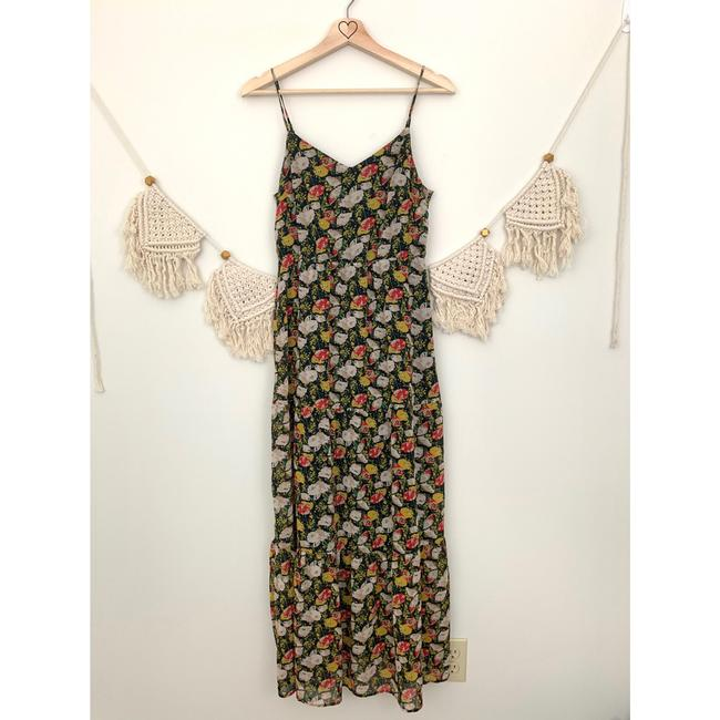 J.Crew Blue Red White Floral Long Casual Maxi Dress Size 2 (XS) J.Crew Blue Red White Floral Long Casual Maxi Dress Size 2 (XS) Image 4